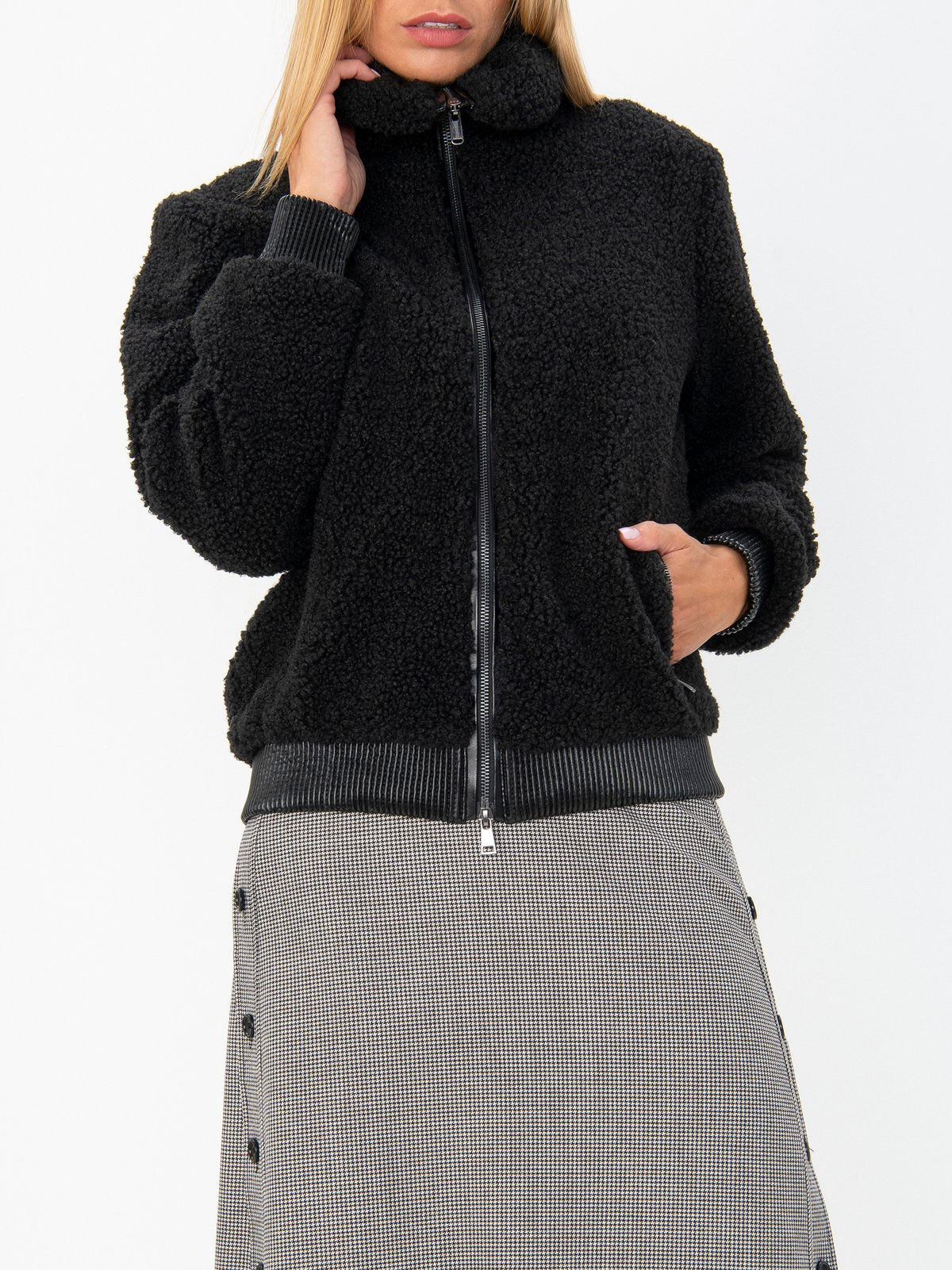 cheaper running shoes new york Women's short coat Bomboogie| Soulz.lt